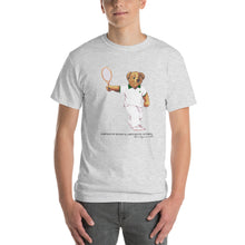 Load image into Gallery viewer, Dartmouth Tennis Polo Bear - T-Shirt (Black Letters)