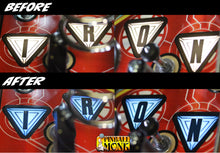 Load image into Gallery viewer, AVENGERS I-R-O-N AND ARC REACTOR COLOR BRACKET SET