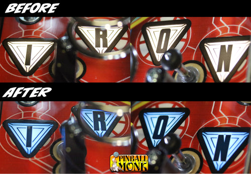 AVENGERS I-R-O-N AND ARC REACTOR COLOR BRACKET SET
