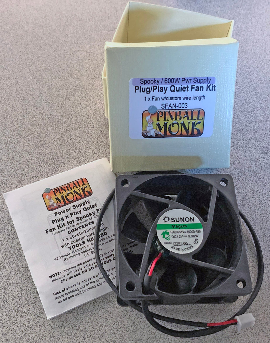 Spooky/Multimorphic Plug n Play Quiet Fan Kit