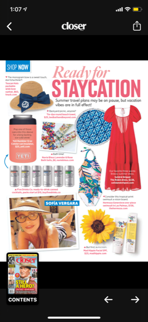 Closer Magazine - Ready for Staycation!