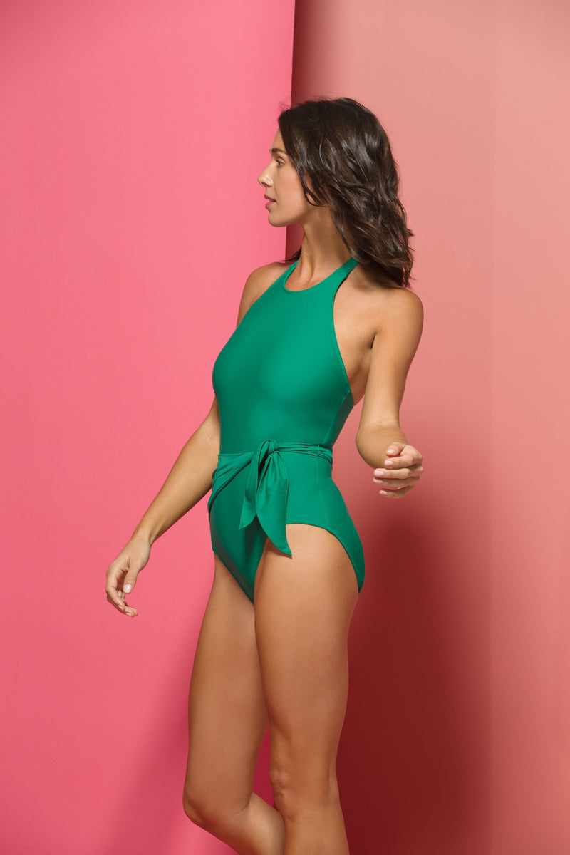 Genevieve One-piece Swimsuit in Green Papaya