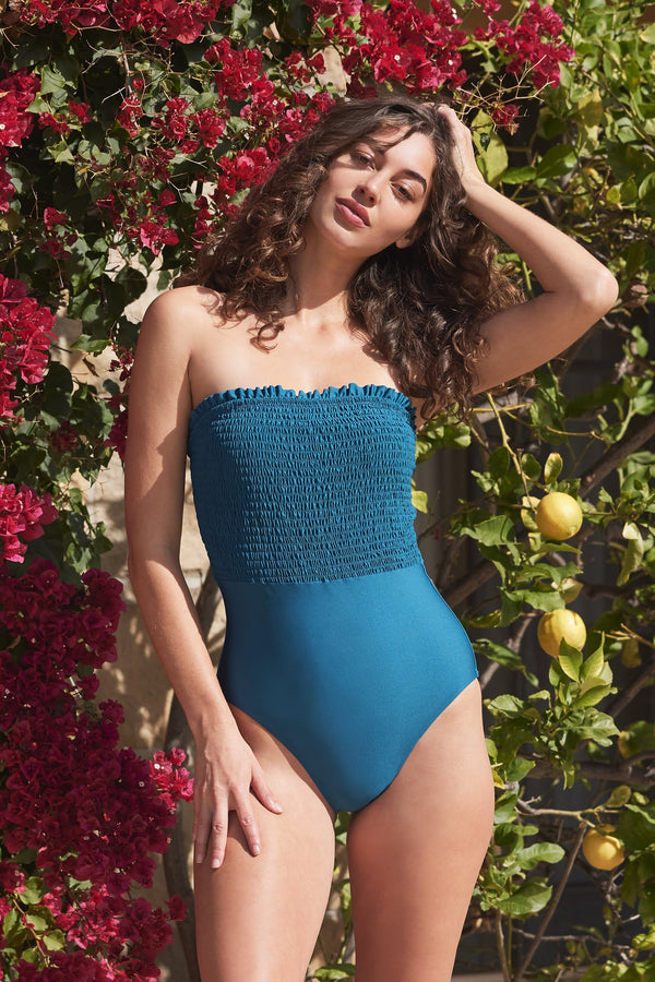 Carrie One-Piece Swimsuit in Jade