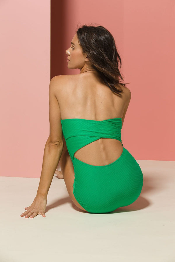 Leonor One-piece Swimsuit in Emerald Novelty