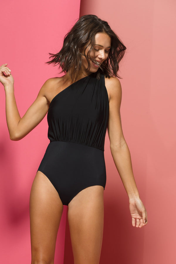 Gloria One-piece Swimsuit in Black Illusion