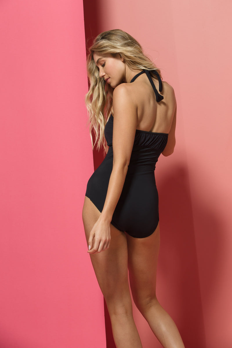 Patty One-piece Swimsuit in Black Illusion