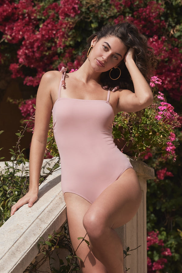 Racquel One-piece Swimsuit in Blush