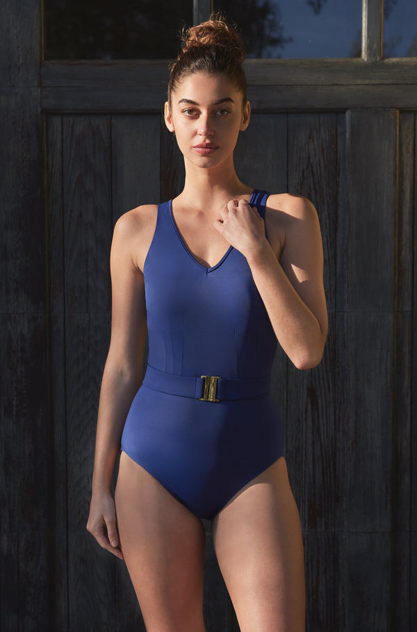 Angela One-piece Swimsuit in French Navy