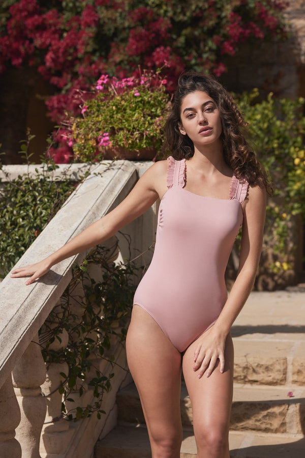 Natalie One-piece Swimsuit in Blush