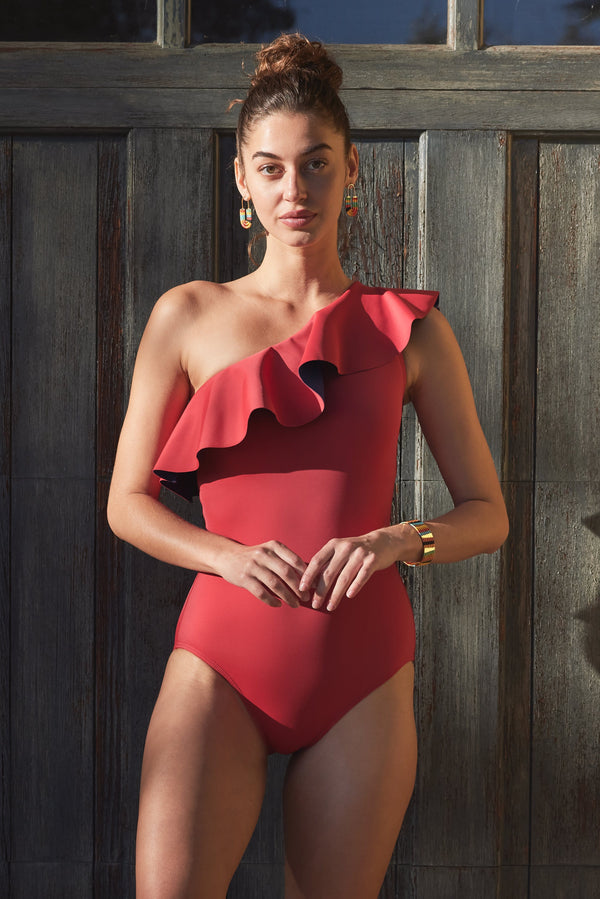 Vanessa One-piece Swimsuit in Roja