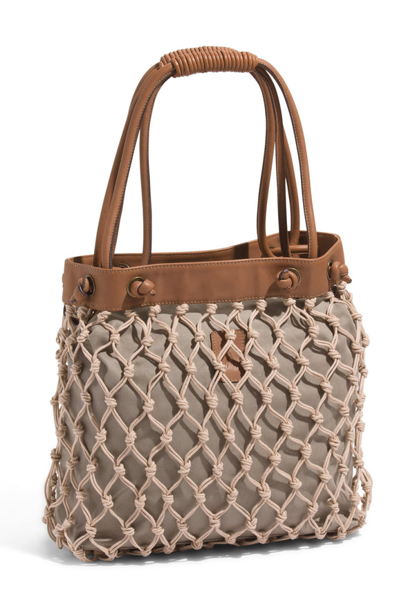 Woven Basket Beach Bag