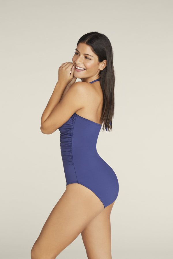 Marilyn One-piece Swimsuit in Navy Blue