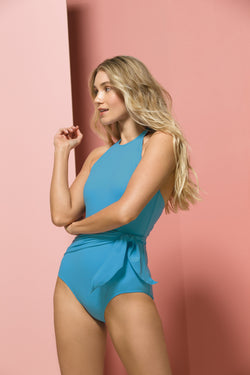 Genevieve One-piece Swimsuit in Turquoise