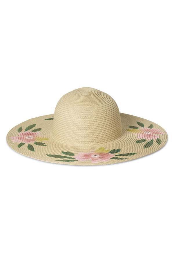 Hermoza Floral Straw Hat