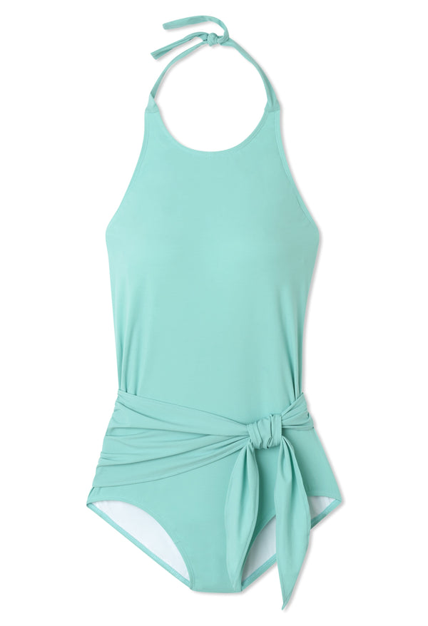 Genevieve One-piece Swimsuit in Aqua