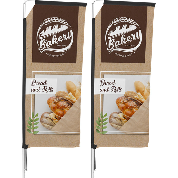2m Telescopic Banner (Set Of 2)