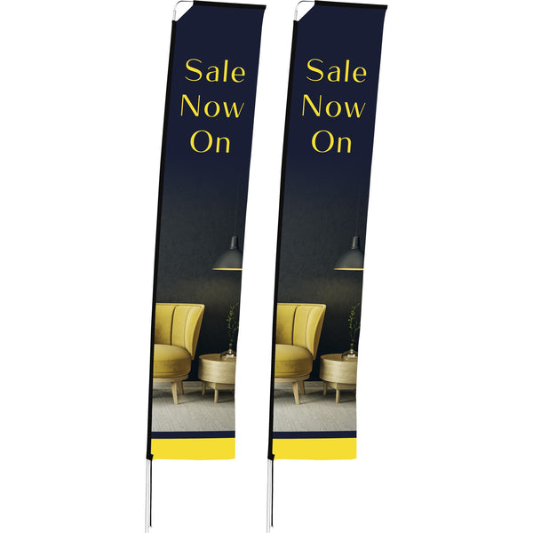 4m Telescopic Banner (Set Of 2)