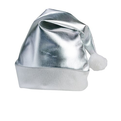 Metallic Festive Hat - Silver Only