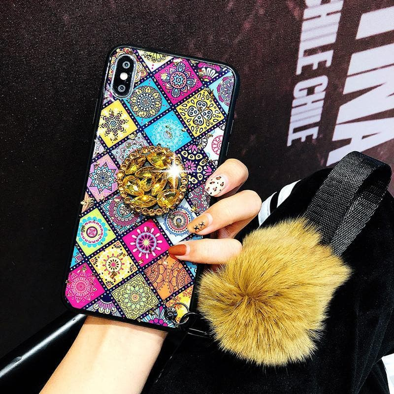 2020 American Style Phone Case For Samsung Galaxy with Bracket/Fur Ball - hotbuyy