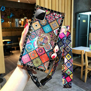 High Quality Bohemian Lanyard Ring Case For iPhone Samsung Huawei - hotbuyy