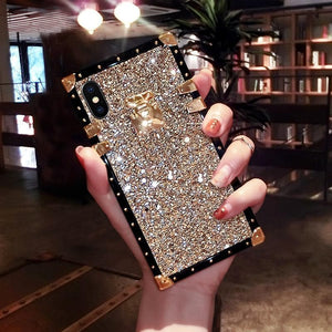 Ins Hot Luxury Diamond Phone Case For iPhone Samsung Huawei - hotbuyy