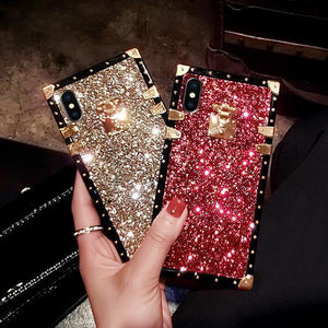 Ins Hot Luxury Diamond Phone Case For Samsung iPhone Huawei - hotbuyy