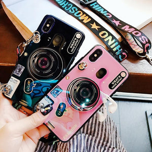 2020 Ins Trendy Bracket Lanyard Camera iPhone Case - hotbuyy