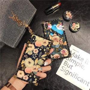 Stylish French Style Flower Popsocket Phone Case for SAMSUNG - hotbuyy