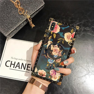 Stylish French Style Flower Popsocket iPhone Samsung Huawei Case - hotbuyy