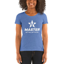 Load image into Gallery viewer, Master Athletics Ladies' short sleeve Tri-Blend t-shirt