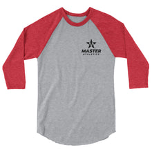 Load image into Gallery viewer, Master Athletics 3/4 sleeve raglan shirt