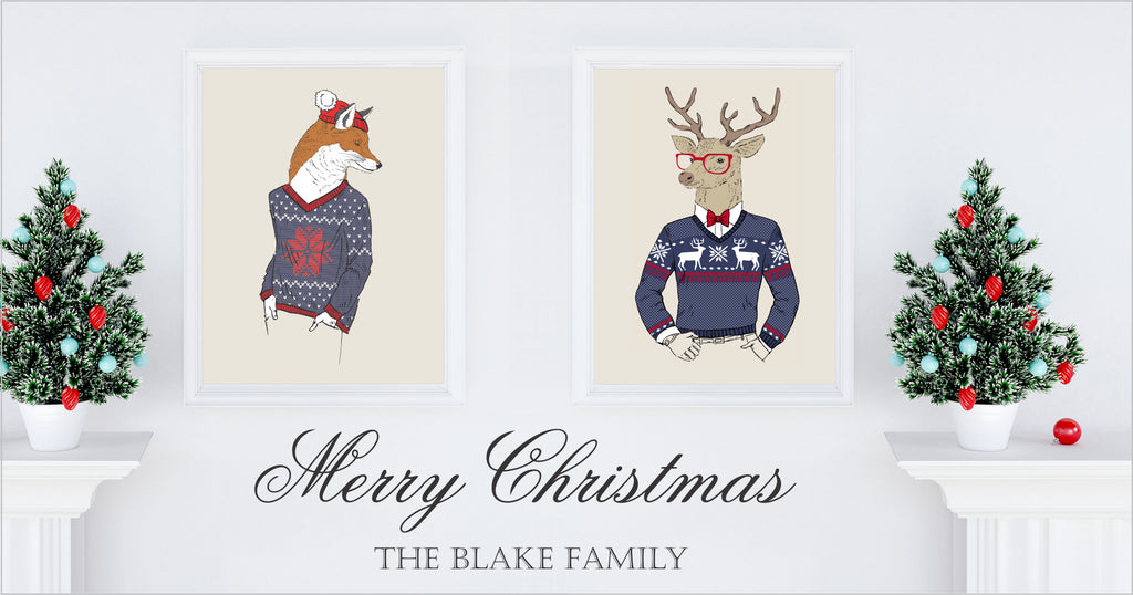 Fun & Unusual Christmas Prints & Posters | Holiday Decor
