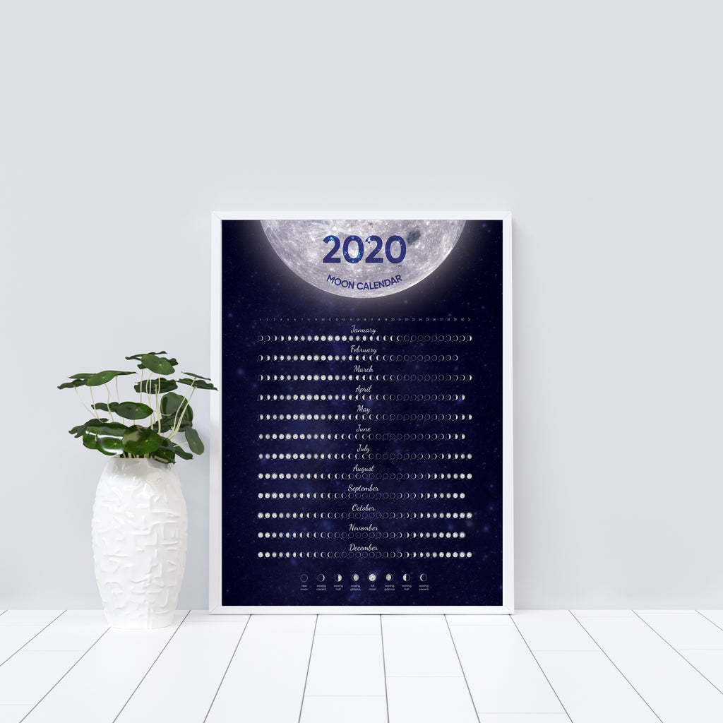 2019 Moon Phase Calendar Designs