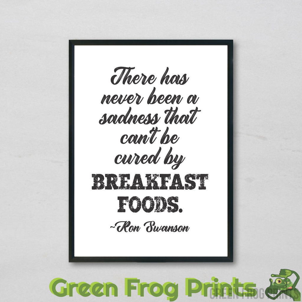 Ron Swanson Parks and Recreation Breakfast Quote Poster Print | Funny Gift For Breakfast Enthusiasts