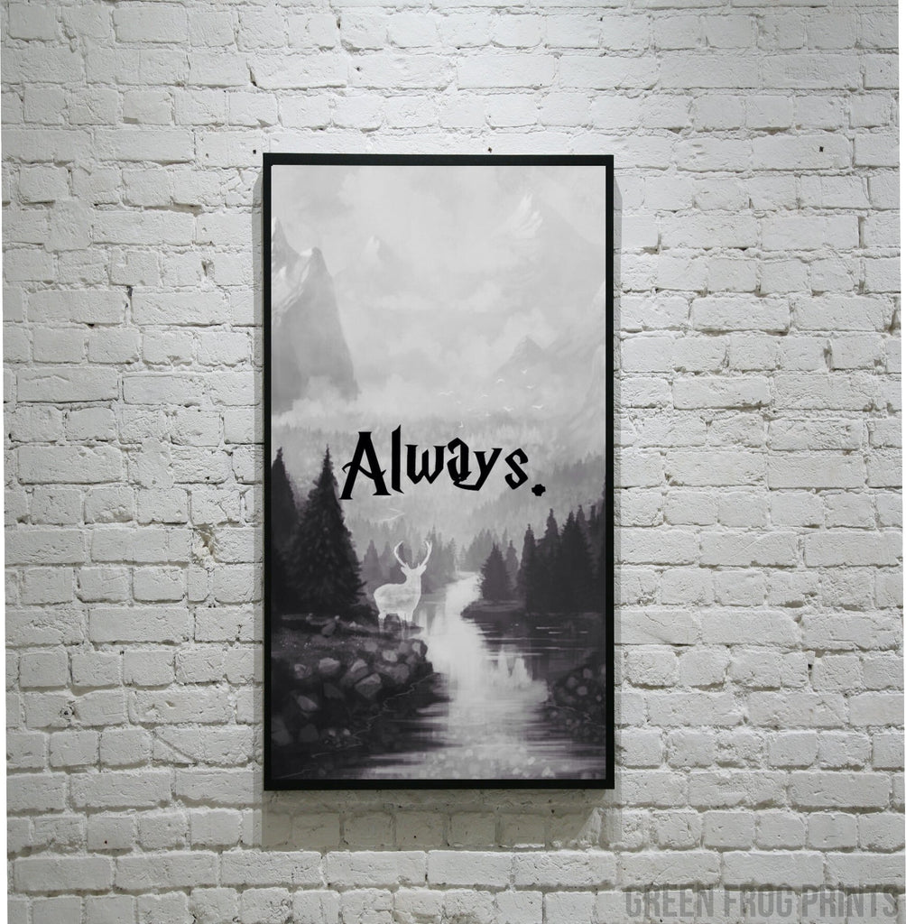 Always Harry Potter Poster Print | Gift Ideas for JK Rowling & Potter Fans
