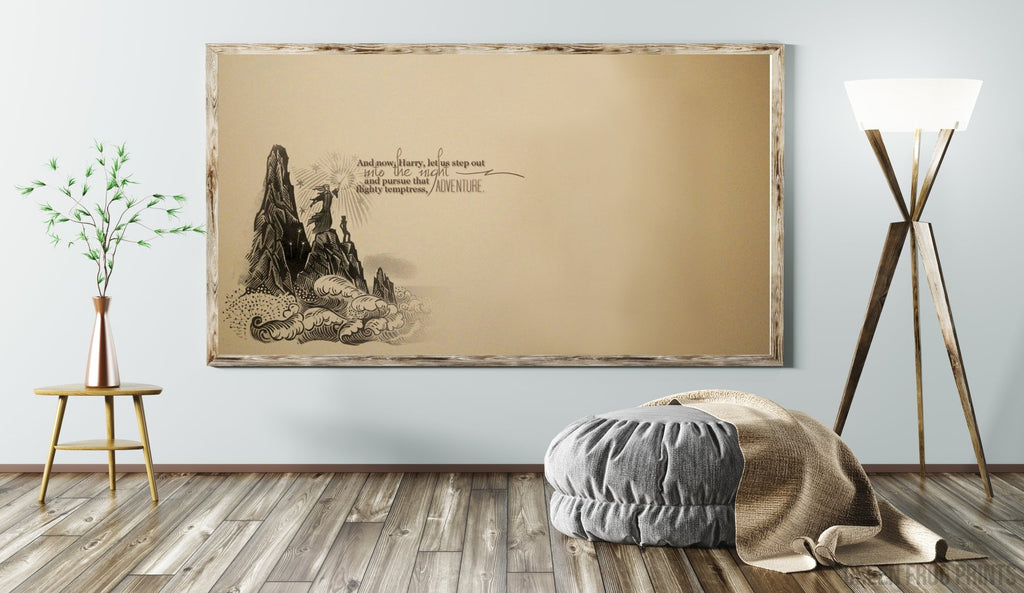 Harry Potter Decor | That Flighty Temptress Adventure Quote - Potter Art Print Poster Gift