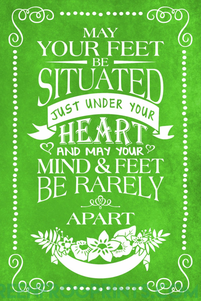 Irish Blessing Wall Poster Print | St. Patrick's Day Decor Ideas