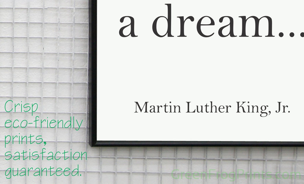 Set of 4 Martin Luther King Inspirational Quotes Posters | Inspirational School, Church, Office & Home Art Wall Decor | MLK Day Event ArtWork