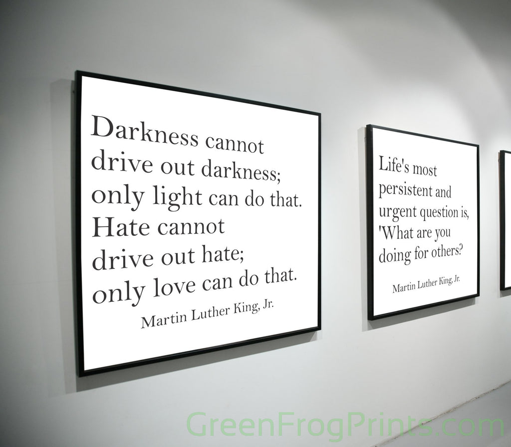 Set of 4 Martin Luther King Inspirational Quotes Posters | Home, School, Church, Office Decor