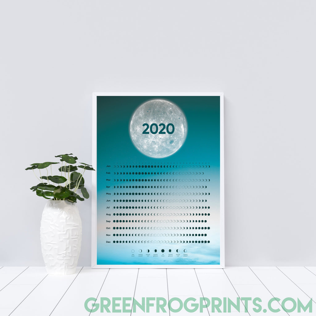 Moon Phases Calendar for 2020 | Beautiful Moon Schedule Design | When Is The Next Full Moon?