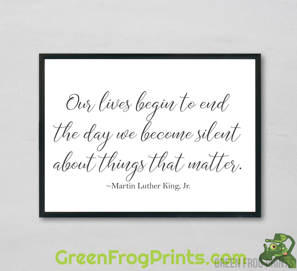 Inspirational Wall Posters to honor Martin Luther King, Jr. | MLK Day Decord