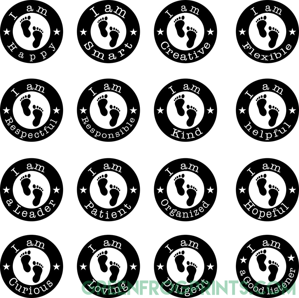 Inspirational Designs For Social Distancing | Set of 16 Floor Self Adhesive Sticker Decals For School Safety & Social Distancing Awareness