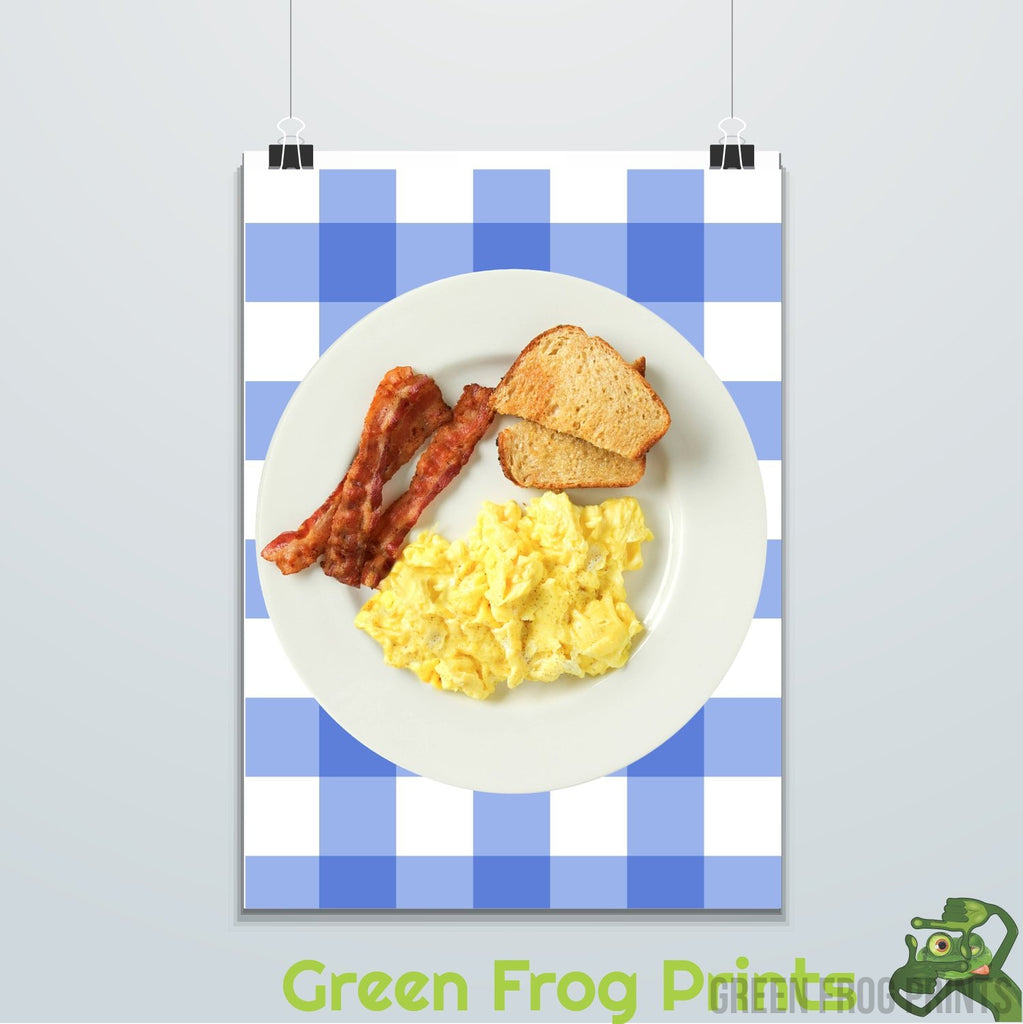 Ron Swanson Parks and Recreation Breakfast Bacon & Eggs Picture Poster Print