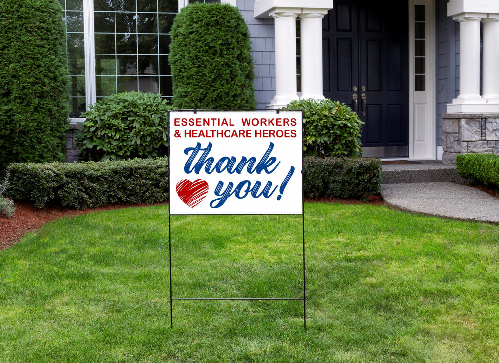 THANK YOU Healthcare Heroes & Essential Workers Sign  | Yard Sign | Poster or Decal