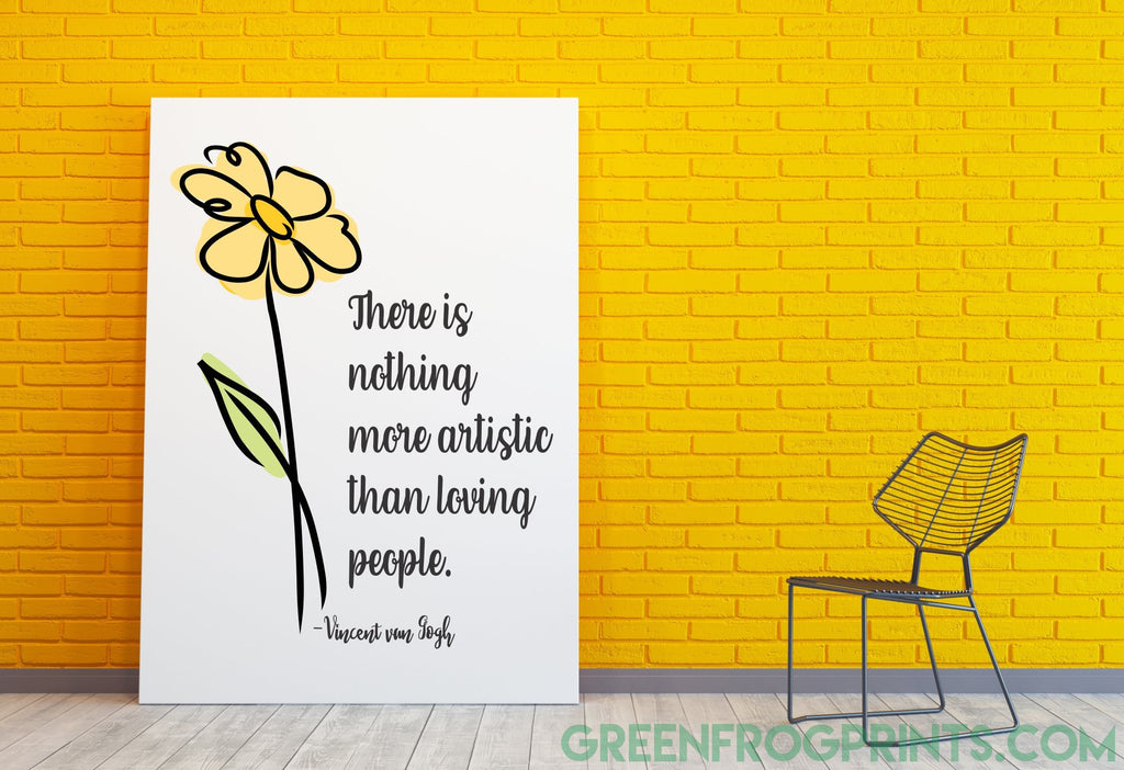 Artistic Loving People Quote By Vincent van Gogh | Poster Art Print  | Home Decor Art Gift Idea