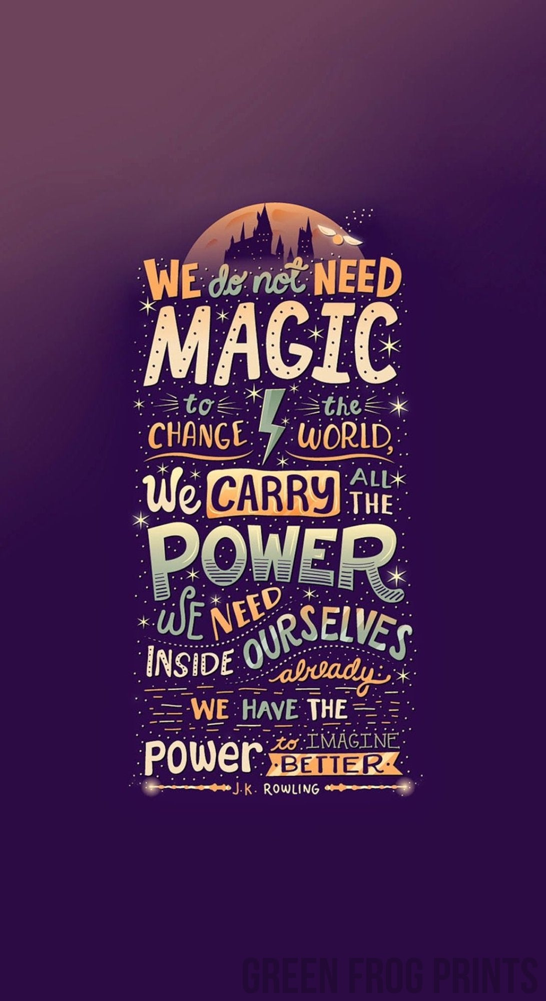 graphic regarding Printable Harry Potter Quotes called We Bring All The Electrical power Harry Potter Quotation Poster Print Reward Suggestions for JK Rowling Potter Lovers