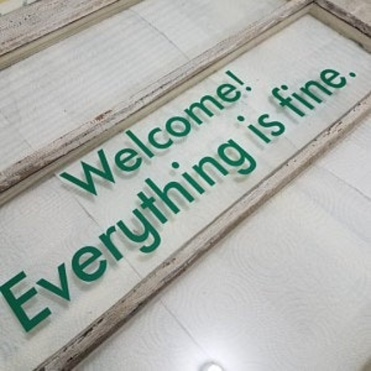 Welcome! Everything is fine. The Good Place Wall Decal Stencil Self Adhesive Wall Decal