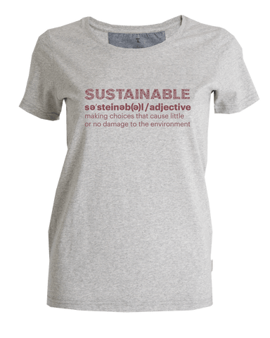Tufte Sustainability T-shrit, Dame