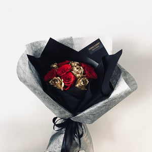 VERA with Premium Hand Dipped Gold Roses