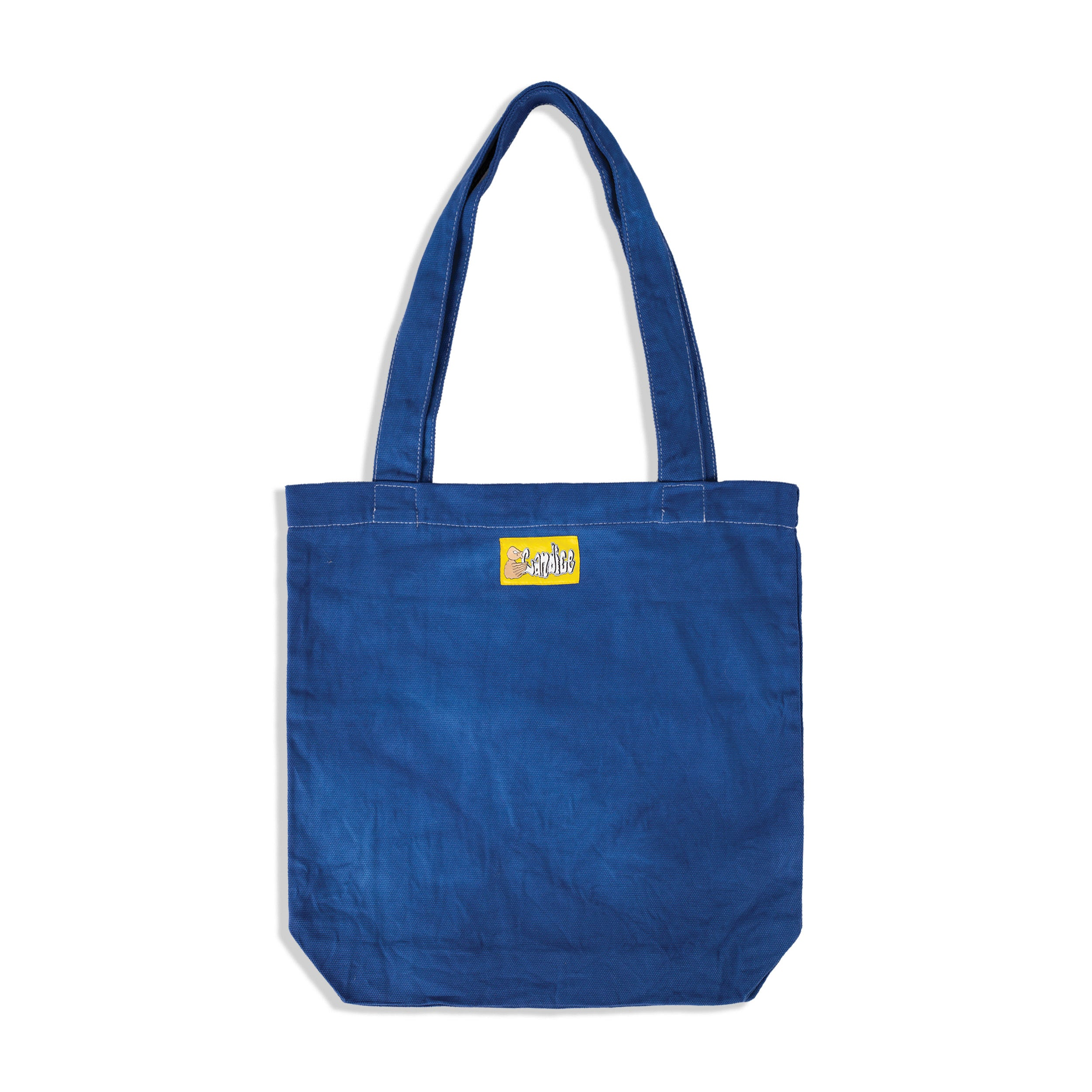 Can You See? Hand-dyed Tote Bag - Blue